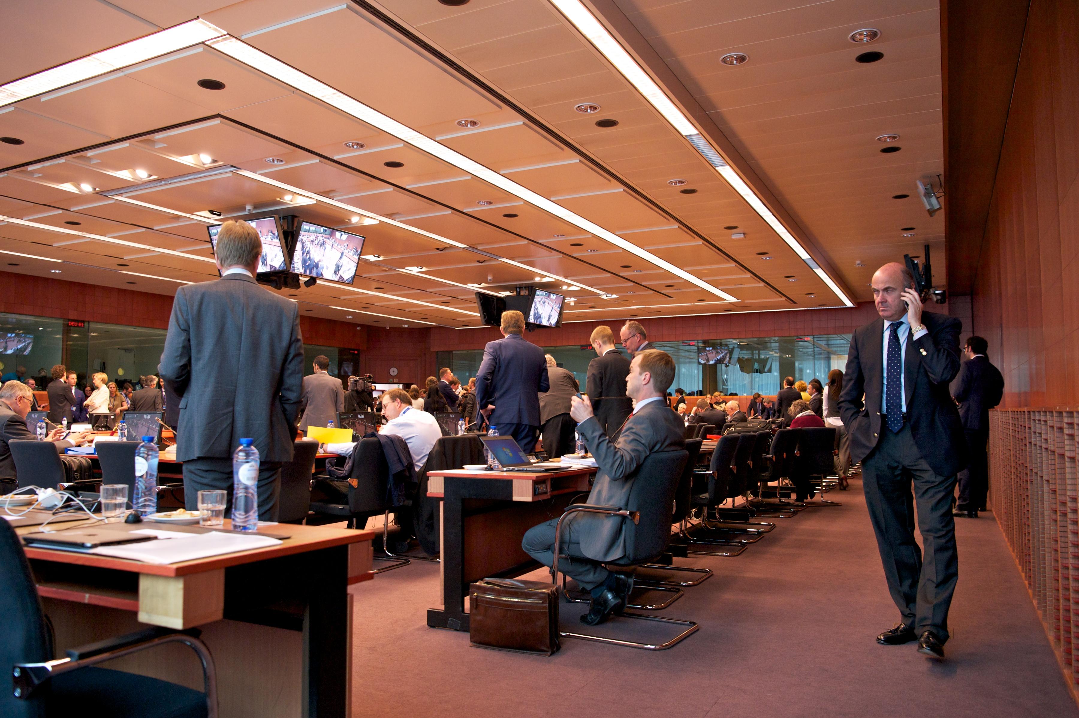 Óõíåäñßáóç ôïõ Eurogroup ôçí Ôñßôç 24 ÌáÀïõ 2016, óôéò ÂñõîÝëëåò. (EUROKINISSI/ÅÕÑÙÐÁÚÊÇ ÅÍÙÓÇ)