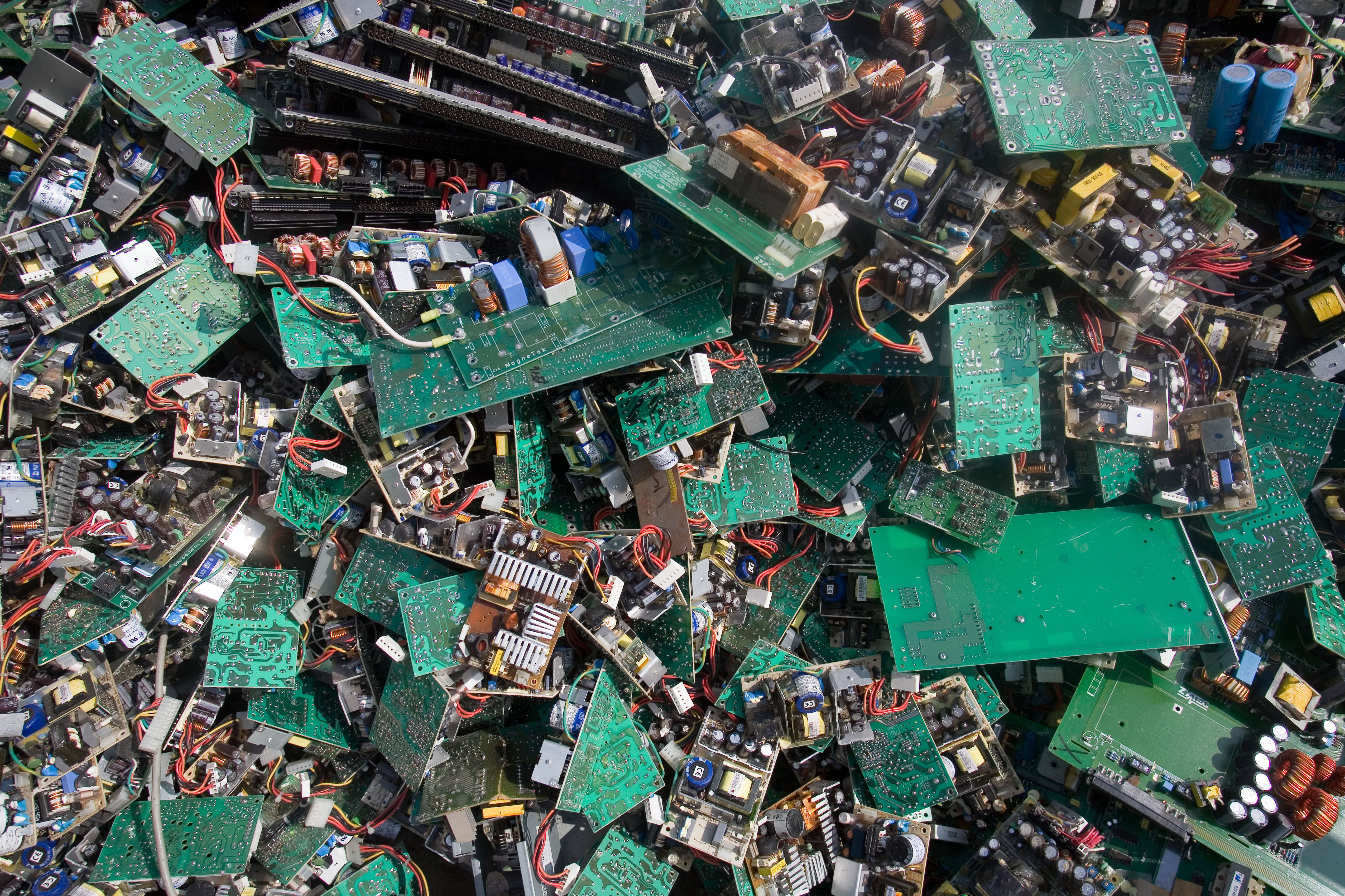 A pile of electronic trash awaits processing in Guiyu.